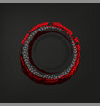 tire track frame vector image vector image