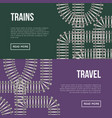 trains and travel banner vector image vector image