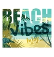 tropical beach summer print with slogan for t vector image vector image