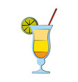 tropical cocktail with lime garnish icon image vector image vector image