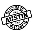 welcome to austin black stamp vector image vector image