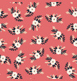white florals bridal roses seamless pattern vector image vector image