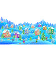 winter landscape horizontal vector image vector image