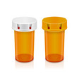 yellow pills bottle isolated on transparent vector image vector image