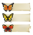 retro butterfly banners1 vector image