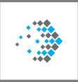 abstract logo technology arrow vector image vector image