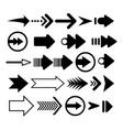 arrow icon set flat arrows collection vector image