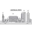 australia perth architecture line skyline vector image vector image