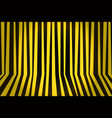 background striped room in yellow and black vector image vector image