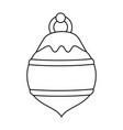 ball ornament christmas related icon image vector image
