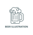 beer line icon beer vector image vector image
