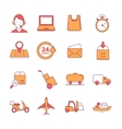 big linear Icons set of logistics and vector image vector image