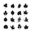 black leaves vector image vector image