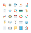 Business and Office Colored Icons 5 vector image vector image