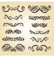 calligraphy ornament set 2 vector image vector image