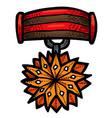cartoon image of award icon badge symbol vector image vector image