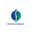 chiropractic physiotherapy concept logo design vector image
