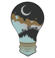 City in a Lightbulb2 vector image vector image