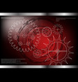 cogwheels on a red vector image vector image