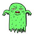 comic cartoon slimy ghost vector image vector image