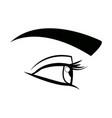 comic eye look optical style vector image vector image