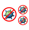 coronavirus 2019-ncov world icon set corona virus vector image vector image