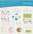 Economy and industry Light industry Industrial vector image vector image