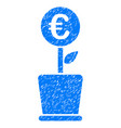 euro project pot icon grunge watermark vector image vector image