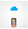 Flat cloud technology computing background vector image