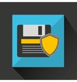 floppy security system technology shield vector image vector image