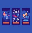 gemini man mobile app screens vector image vector image
