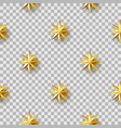 geometric stars seamless pattern vector image vector image