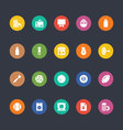 Glyphs Colored Icons 25 vector image vector image