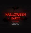 halloween party light banner modern neon vector image vector image