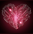 heart and glowing light effect abstract vector image