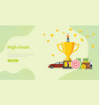 high goals personal target concept with people vector image