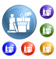 homeless food help icons set vector image