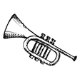 horn musical instrument vector image vector image