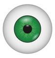 human eye icon realistic style vector image