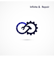 Infinite repair logo elements design vector image vector image