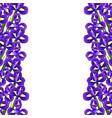 iris flower border vector image