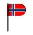 isolated flag of norway vector image vector image
