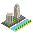 isometric travel concept vector image