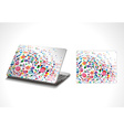 Laptop sticker skins vector image vector image