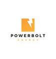lightning bolt power logo icon symbol sign vector image vector image