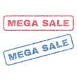 mega sale textile stamps vector image vector image