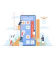 mobile application build ui designers vector image