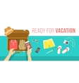 Packing clothes for summer vacation flat vector image vector image