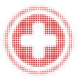 pharmacy halftone icon vector image