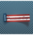 Presidents Day big realistic American Flag Ribbon vector image